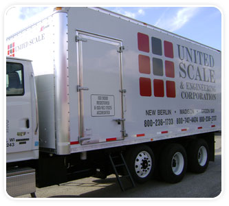 United Scale Support Services Truck